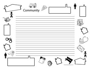 Community- Landscape- College Rule