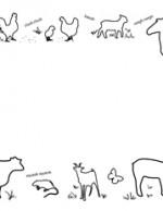 Farm Animals- Landscape- Blank