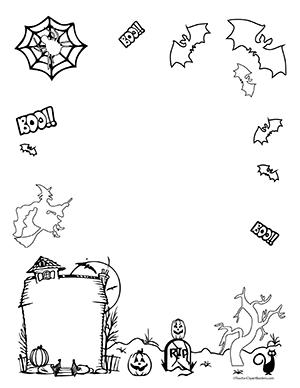 Halloween- Portrait- Blank - Teacher Clipart Borders