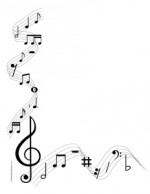 Musical Notes- Portrait- Blank