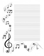 Musical Notes- Portrait- College Rule