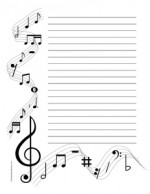 Musical Notes- Portrait- Wide Rule