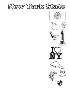 New York State Symbols- Portrait- Blank