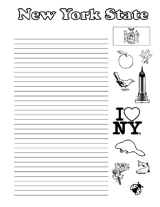 New York State Symbols- Portrait - College Rule