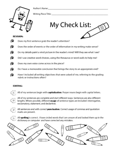 Revision Checklist- Portrait