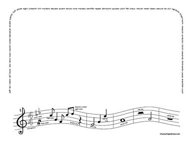 blank music notes