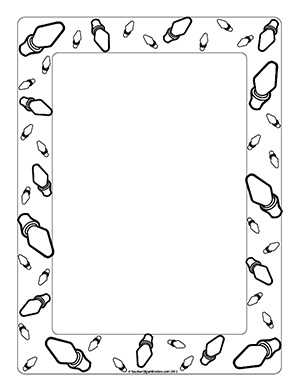 wide frame coloring pages christmas - photo#13