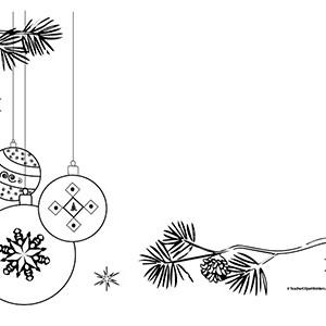 Christmas Tree Ornaments-Landscape- Blank - Teacher ...