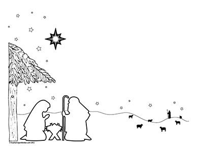 Rejoice! The King is Born! Christmas- Landscape- Blank - Teacher ...