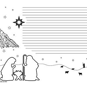 Rejoice!-A-King-is-Born!-Christmas--Landscape--College-Rule