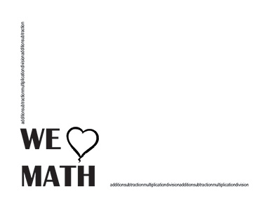 we love math landscape blank teacher clipart borders