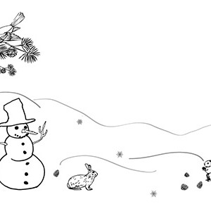 black and white clip art winter landscapes � cliparts