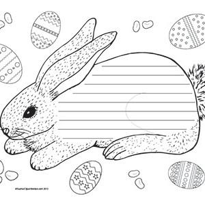 Easter-Bunny-&-Easter-Eggs--Landscape--Wide-Rule