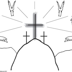 Easter-Crucifixion--Blank