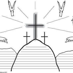 Easter-Crucifixion--College-Rule