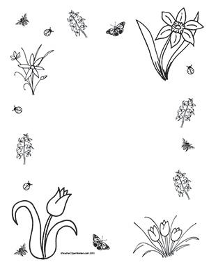 Spring Flowers Portrait Blank