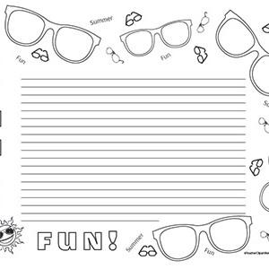 Summer-Sunglasses-Fun-!-Landscape--College-Rule