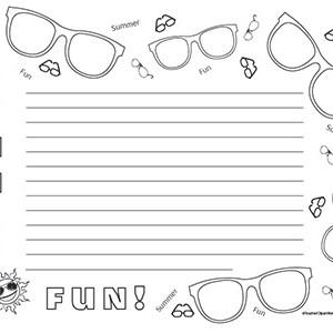 Summer-Sunglasses-Fun!-Landscape--Wide-Rule