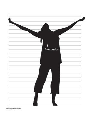 I-Surrender--Girl--Portrait--Wide-Rule