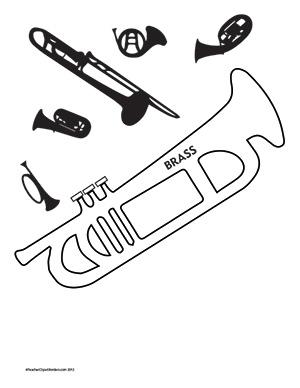 Music--Brass--Portrait--Blank