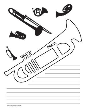 Music--Brass--Portrait--Wide-Rule
