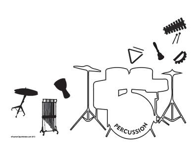 Music--Percussion--Landscape--Blank