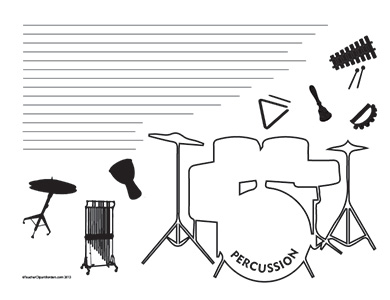 Music--Percussion--Landscape--College-Rule