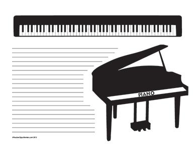 Music--Piano--Landscape--College-Rule