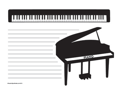 Music--Piano--Wide-Rule