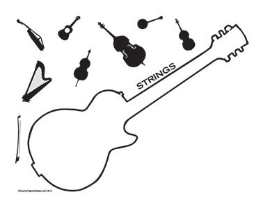 Music-Strings--Landscape--Blank