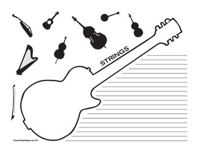 Music-Strings--Landscape--College-Rule