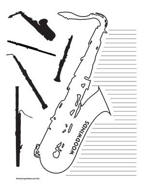 Music--Woodwinds--Portrait--College-Rule