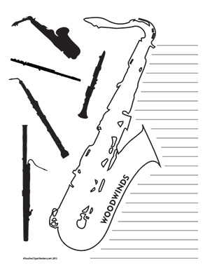 Music--Woodwinds--Portrait--Wide-Rule