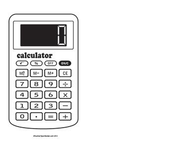 Basic-Calculator--Landscape--Blank