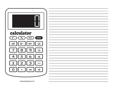Basic-Calculator--Landscape--College-Rule