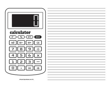 Basic-Calculator--Landscape--College-Rule
