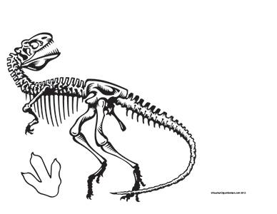 Dinosaurs--T-Rex--Landscape--Blank