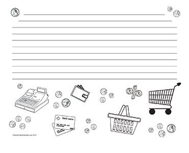Money-&-Shopping--Landscape--Wide-Rule