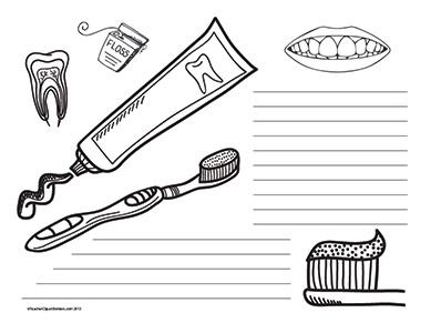 Teeth-Health--Landscape--Wide-Rule