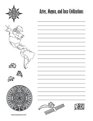 Aztec,-Mayan,-and-Inca-Civilizations--Portrait--Wide-Rule