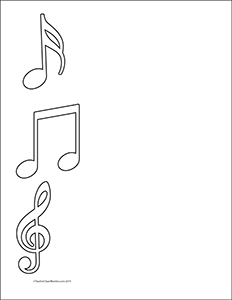 Notes of Music- Portrait- Blank - Teacher Clipart Borders ...