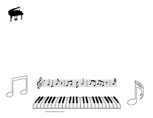 Piano-Keys--Music--Blank