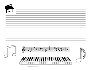 Piano-Keys--Music--landscape--College-Rule