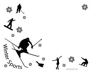 Winter-Sports--Landscape--Blank