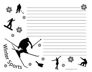 Winter-Sports--Landscape--Wide-Rule