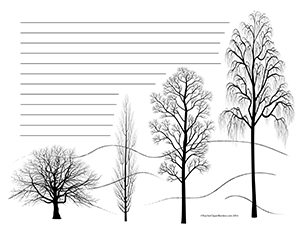Winter-Trees--Landscape--Wide-Rule