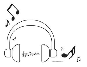 headphones--Landscape--Blank