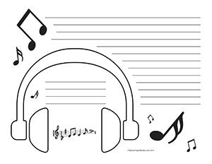 headphones--Landscape--Wide-Rule