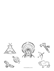 Native-Americans-of-the-Plains--Portrait--Blank