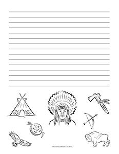 Native-Americans-of-the-Plains--Portrait--Wide-Rule